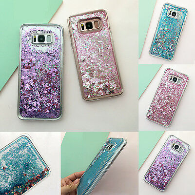 Bling Hybrid Liquid Glitter Rubber Phone Case Cover For Samsung Galaxy S9 S7 S8