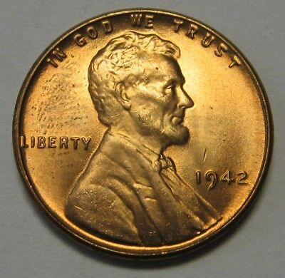 1942 Lincoln Wheat Cent in the CH BU Range Nice Coins DUTCH AUCTION