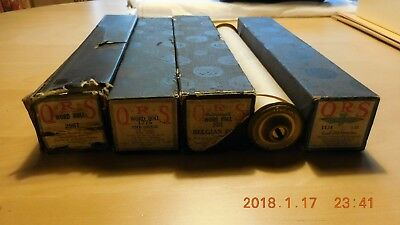 VINTAGE LOT of 5 QRS  PLAYER PIANO ROLLS~ Great Shape!