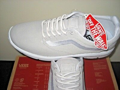 799ae323a8 Vans Mens Iso 1.5 Wind Chime Grey True White Running Shoes Size 8 Ultra  Cush NWT