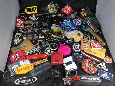Huge Lot of promotional keychains and apparel tags