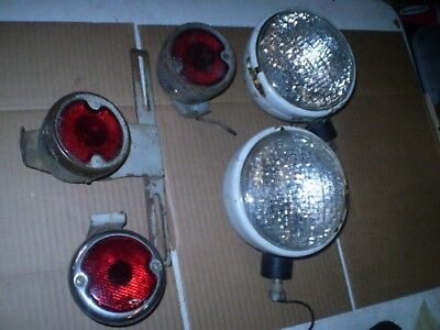 Vintage Ford Tractor Lights Tail Lights Lot All Original Rare