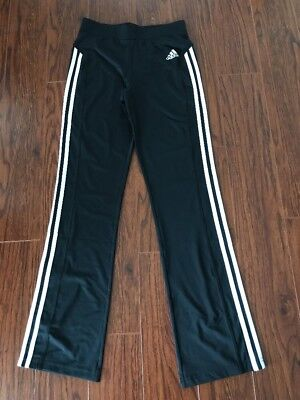 Girl's ADIDAS Black Performance Pants Size 16 NEW
