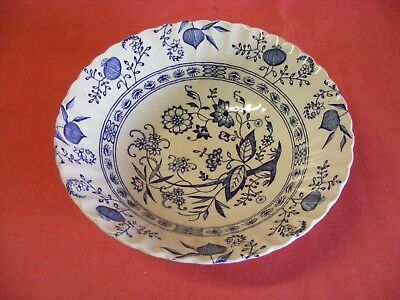 """J G Meakin Blue Nordic 8 3/8"""" Serving Bowl 2.25"""" tall"""