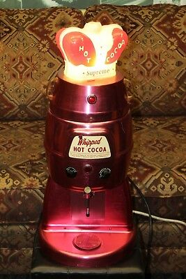 Vintage 1950s HELMCO Whipped Hot Cocoa w/ Carnation Topper Commercial Dispenser
