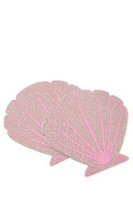 Pastease Pink Seashell Mermaid Pasties Cover  ~ 1 pair