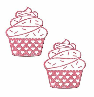 Pastease Pink Cupcake Pasties Cover  ~ 1 pair