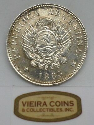 1883 Argentina Silver 20 Cents - #B10530