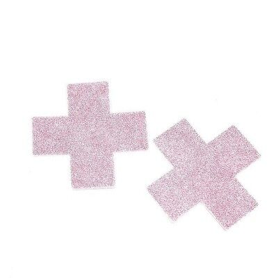 Pastease Pink Glitter Plus X Pasties Cover  ~ 1 pair