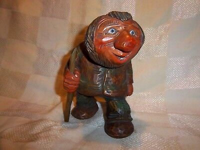 Vintage Norway Gnome Man Troll Hand Carved Figure