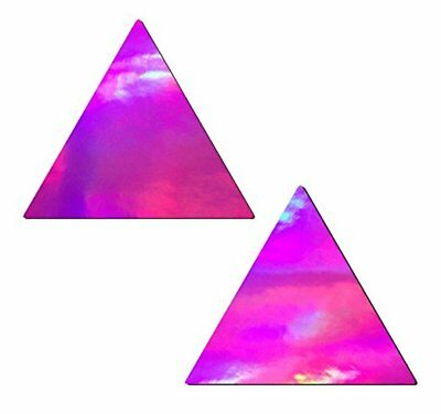Pastease Pink Hologram Triangle  Pasties Cover  ~ 1 pair