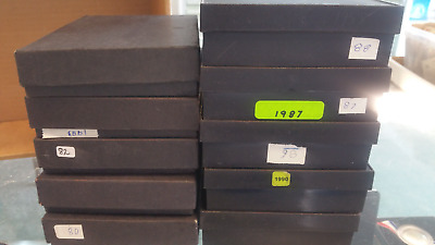 Lot of 10 Different 1980 to 1990 Canada Double Dollar PROOF sets