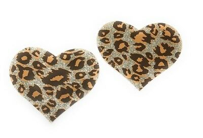 Pastease Cheetah Heart  Pasties Cover  ~ 1 pair