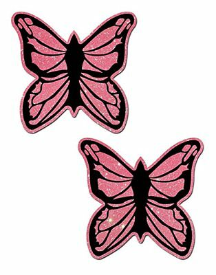Pastease Pink Butterfly Pasties Cover  ~ 1 pair