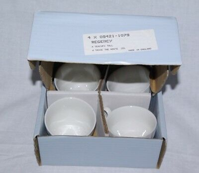 4 x Tea Cups Johnson Bros Regency White (Boxed & Unused) Multiple Sets Available
