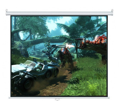 """119"""" Manual Pull Down Wall Mount Projector Screen Projection Home TV Xbox Movie"""