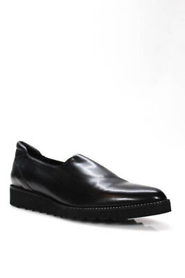 DONALD J PLINER BLACK NAPPA STRETCH SHOE size 10 M MADE in ITALY