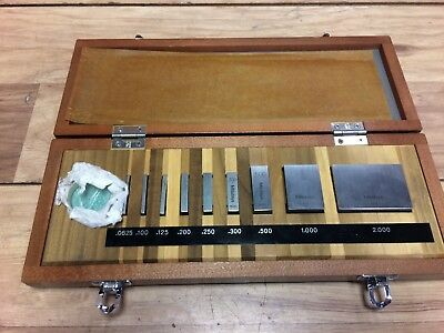 "Nice Mitutoyo No 516 Gage Block Set .0625 - 2 "" Grade 3"