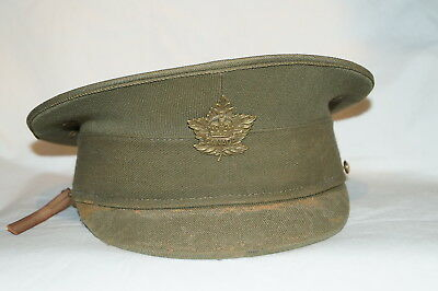 WW1 Canadian CEF Peaked Cap And General List Cap Badge