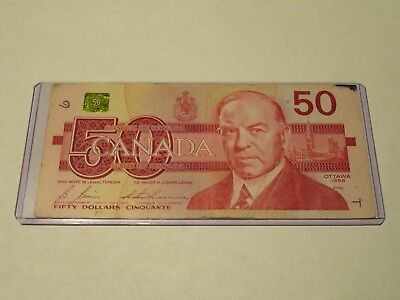 $50 note BANK of CANADA 1988 fifty 50 dollars Canadian banknote FHM6268356