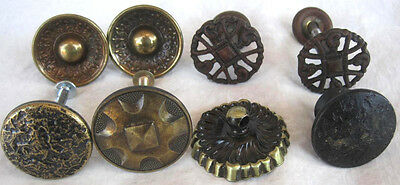 Vintage Brass Lot of 8 pcs Metal Round Cabinet Drawer Knobs Pulls Variety 1.25""