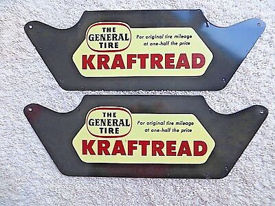 2 New Old Stock General Tire-Tire Rack Signs