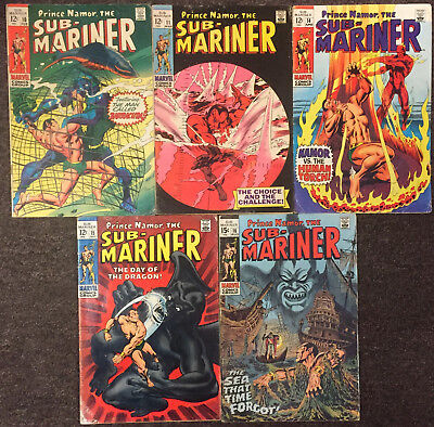 5 Sub-Mariner #10 11 14 15 16 Marvel Comics Lot