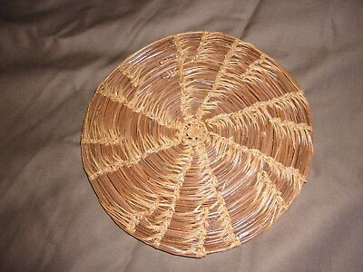 Native American  mini tray Eastern Woodlands needle and grass