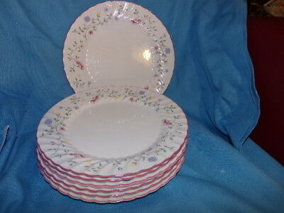 Johnson Brothers Set 6 Summer Chintz Design Dinner Platel Made in England