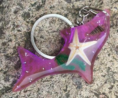 COOL INSECT  starfish  purple FISH style KEY-CHAINS  FF88