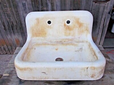 Vintage KOHLER Cast Iron Farmhouse Sink w/ Front Apron 1925