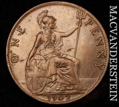 Great Britain: 1902 One Penny- Scarce !! Better Date !! #x6437