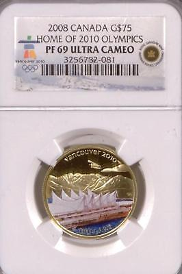 Canada 2008 Gold $75 | NGC PF69 Ultra Cameo | Home of 2010 Olympics  (RC4838)
