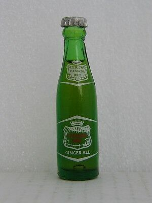 CANADA DRY GINGER ALE 3 inch green glass bottle
