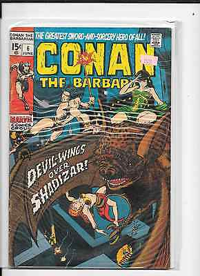 Conan the Barbarian #6 (Jun 1971, Marvel), VG to fine, Barry Smith art