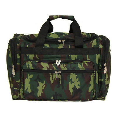 "World Traveler Camouflage 22"" Travel Duffle Bag - Green Rolling Duffel NEW"