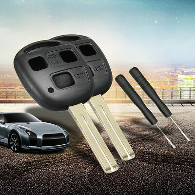 2x 3 Button Remote Key Shell Case Blade For Lexus Es300 IS300 GS300 RX350 LS400