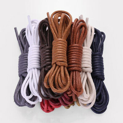 Round Waxed Dress Shoelaces Leather Shoes Strings Boot Sport Shoe Laces Cord