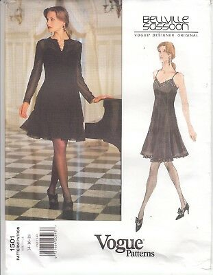 Vogue 1501 Jacket Dress Evening Party Bridal Sassoon Sewing Pattern 14-18