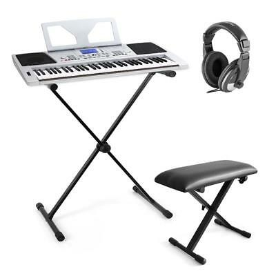 Musik Komplett Set 61-Tasten Keyboard Digital Piano Klapp Stativ Ständer Hocker