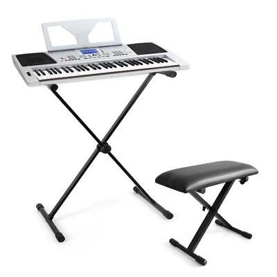 Top Schubert Keyboard Set Sitz Bank Ständer Usb Midi 61 Tasten Digital Piano