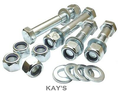 M12 Part Threaded Bolts + Nyloc Nuts + Washers High Tensile 8.8 Zinc Plated Hex