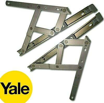 """YALE Window Friction Hinges Top Side Hung uPVC Stay 8"""" 10"""" 12"""" 16"""" 20"""" 24"""" Screw"""