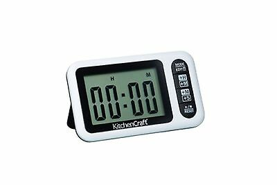 Kitchen Craft Electronic Digital Dual Setting Kitchen Timer And Clock