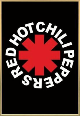 Red Hot Chili Peppers Poster & Kunststoff-Rahmen Gold (91x61cm) #AC8LM