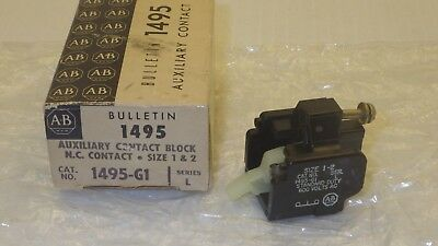 Allen Bradley 1495-G1 Series L N.c. Contact Size 1&2 Auxiliary Contact Block Nib