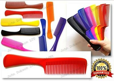 "Hair Handle Comb 7.5"" Shower Comb Gum Bag Wet Hair Combs Wide Tooth Comb x 1"