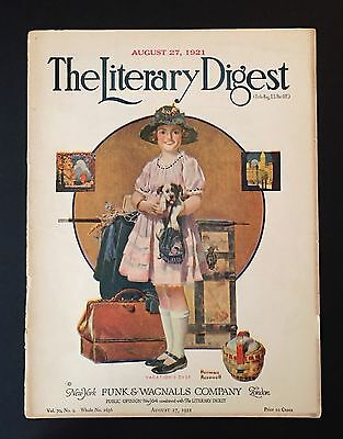 Norman Rockwell The Literary Digest August 27, 1921 Magazine Cover