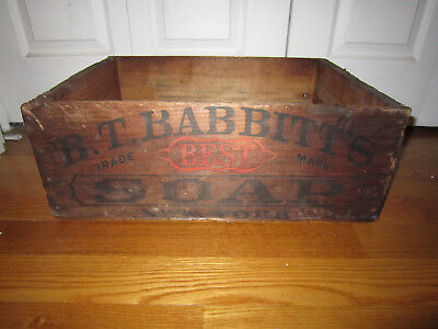 Antique Advertising Box Bt Babbitts Soap Copyright 1868 Ny Graphics All Sides