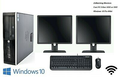 Fast Full Set Computer SSD Dual Screen LCD Monitor Cheap Day Trading Office PC